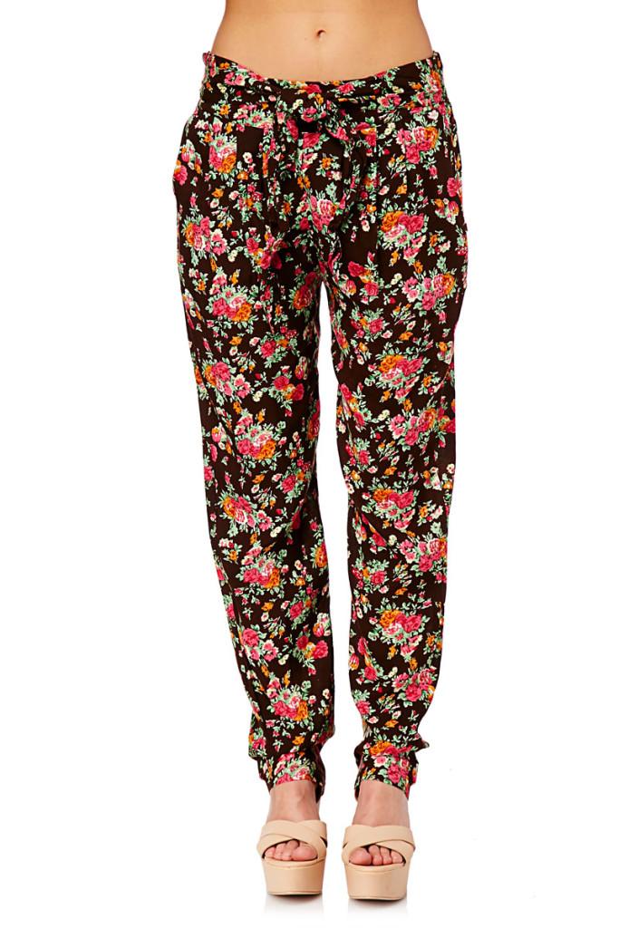 Pantalones flores verano marca Pepita Pérez baratos, outlet online