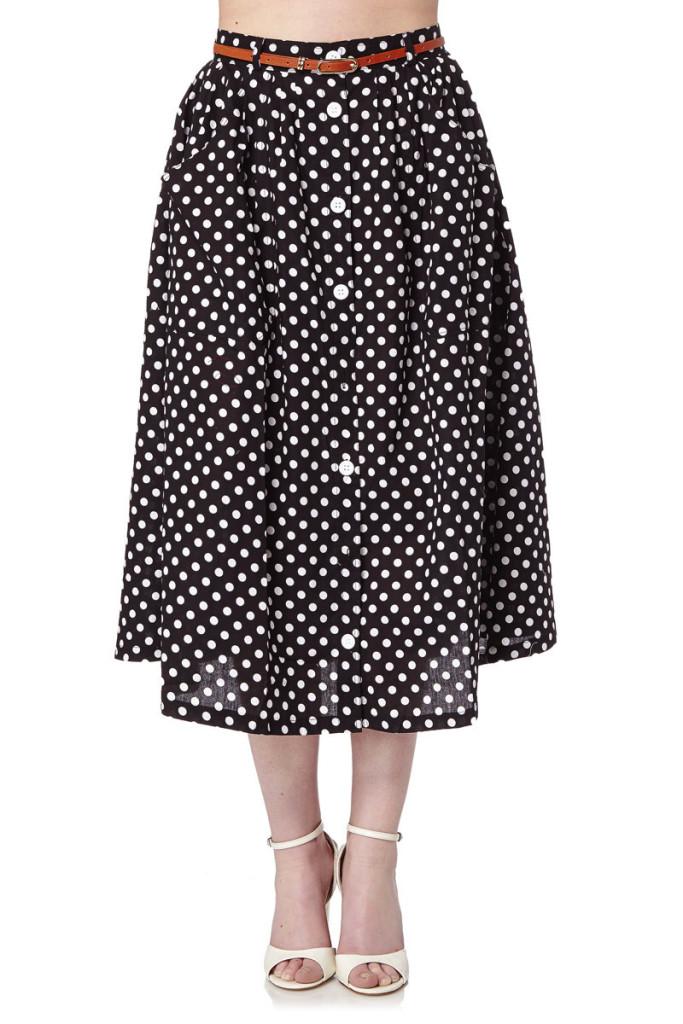 Faldas midi marca Yumi baratas, outlet online 3