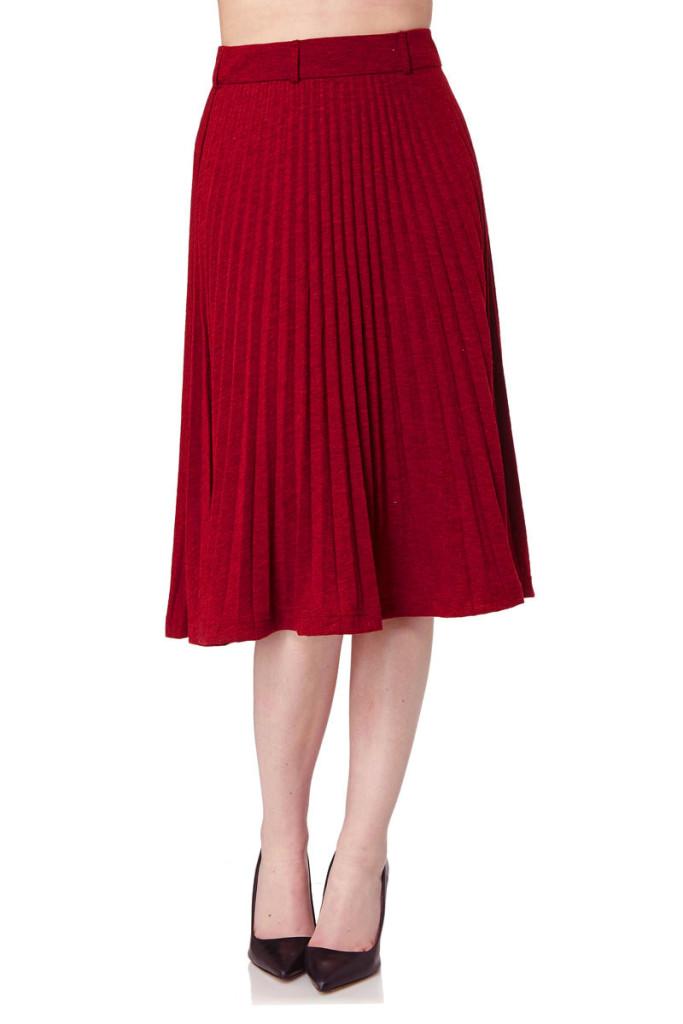 Faldas midi plisadas marca Yumi baratas, outlet online