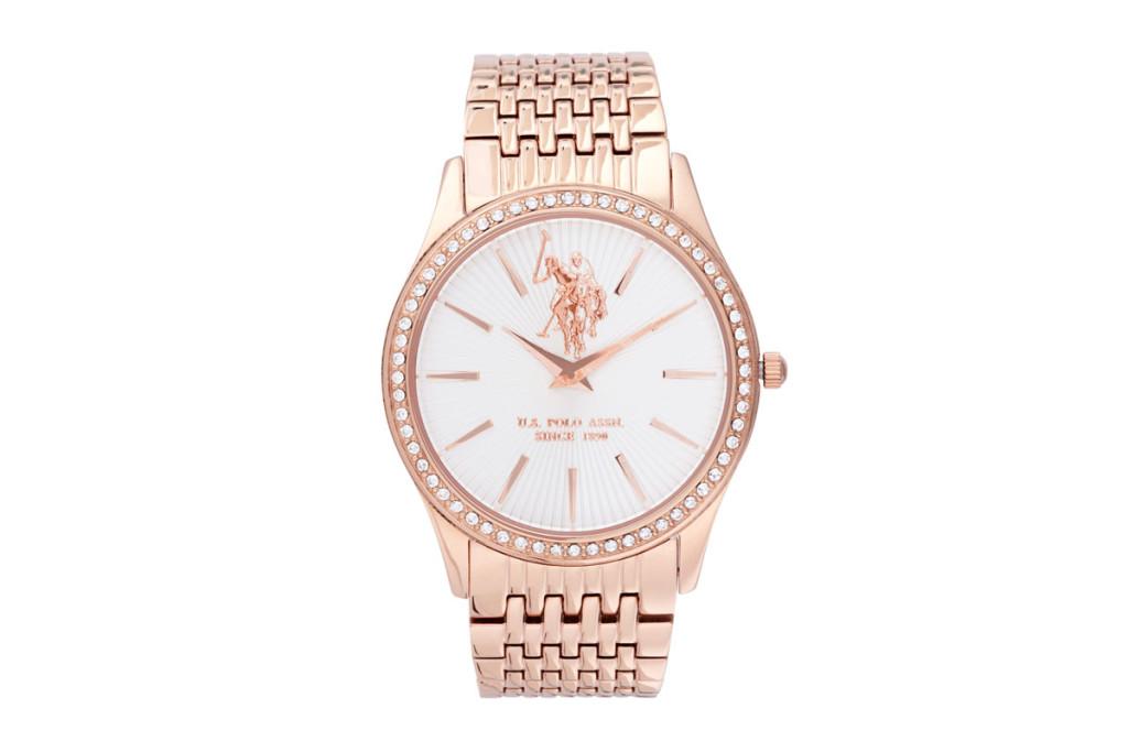 Relojes chapados en oro para mujer marca US Polo Assn baratos, outlet