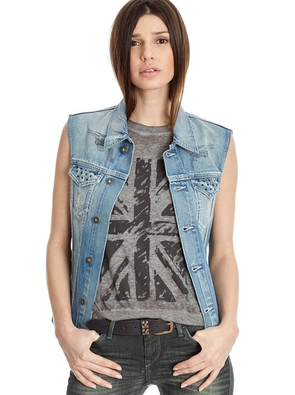 Chaleco tejano verano mujer marca Pepe Jeans baratos, outlet