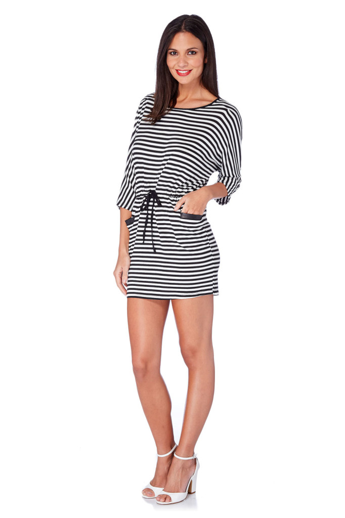 Vestidos rayas marca French Code barato, outlet online
