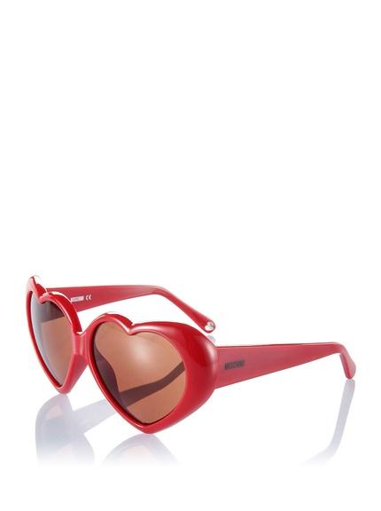 Gafas sol forma corazón marca Moschino baratas, outlet online 3