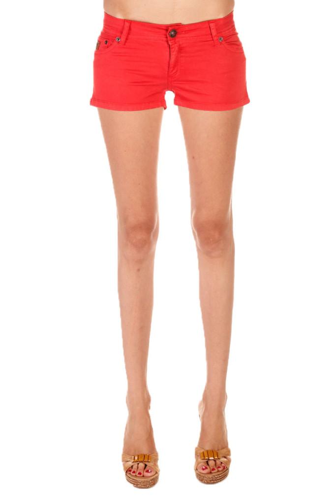 Shorts vaqueros color rojo marca Lois baratos, outlet
