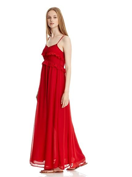 Vestido rojo marca Mango baratos, outlet online