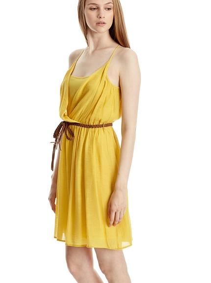 Vestido mostaza marca Mango baratos, outlet online