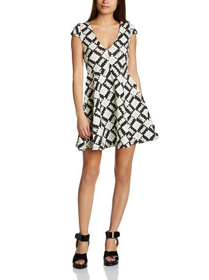 Vestido geométrico marca Minkpink, outlet