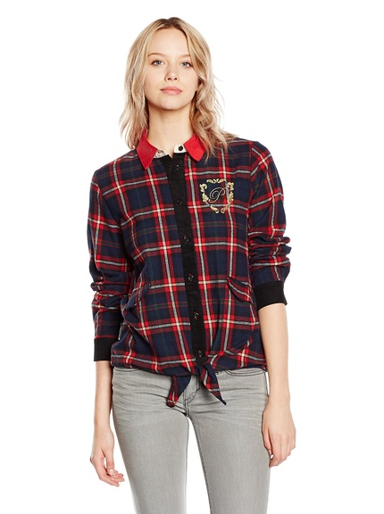 Camisa cuadros  para mujer marca H Preppy, outlet