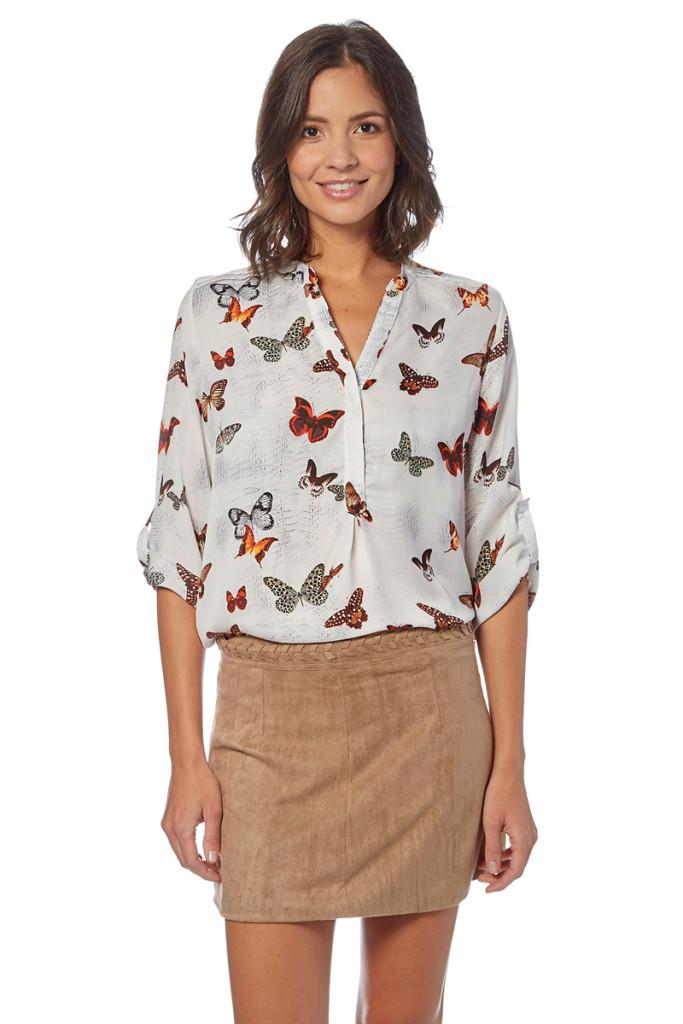 Blusa mariposa y falda ante marca Goa baratas, outlet