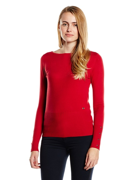 Jersey rojo mujer marca Trussardi barato, outlet