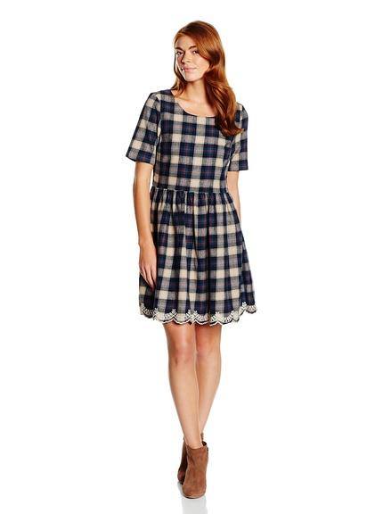 Vestidos otoño estampadoa, manga tres cuartos marca Yumi baratos, outlet