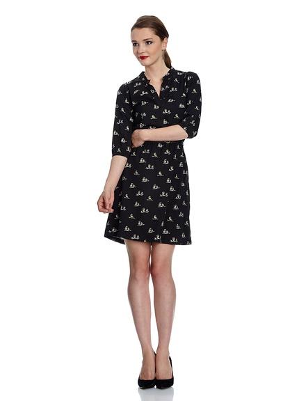 Vestidos otoño estampadoa, manga tres cuartos marca Yumi baratos, outlet 3