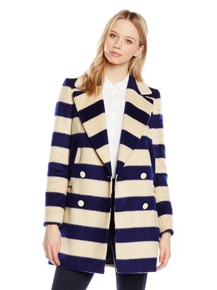 Abrigo rayas de mujer marca Naf Naf barato, outlet
