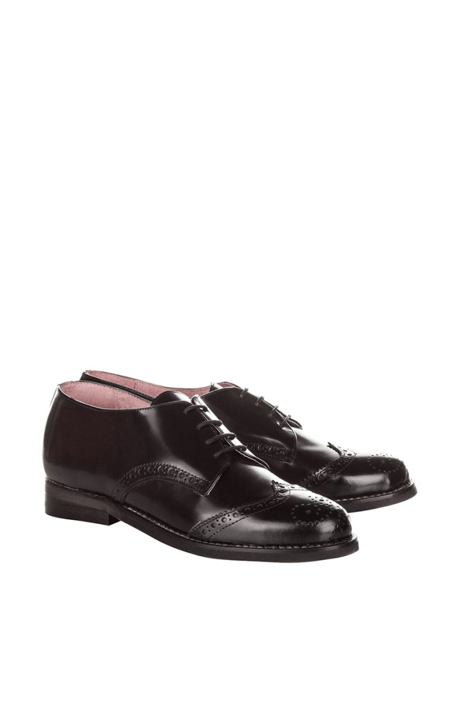 Zapatos oxford de piel Eva López baratos, outlet