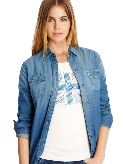 Camisas tejanas marca Pepe Jeans baratas, outlet online