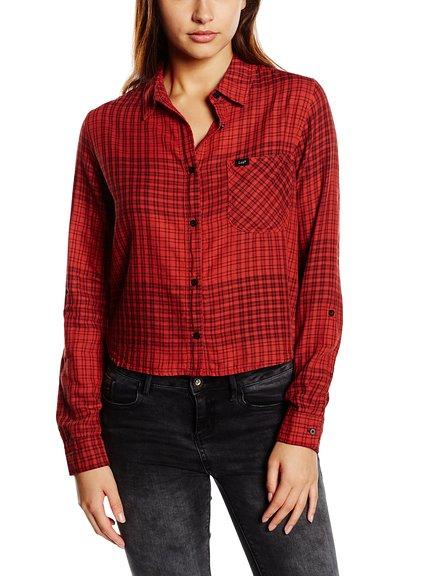 Camisa cuadros mujer marca Lee barata, rebajas