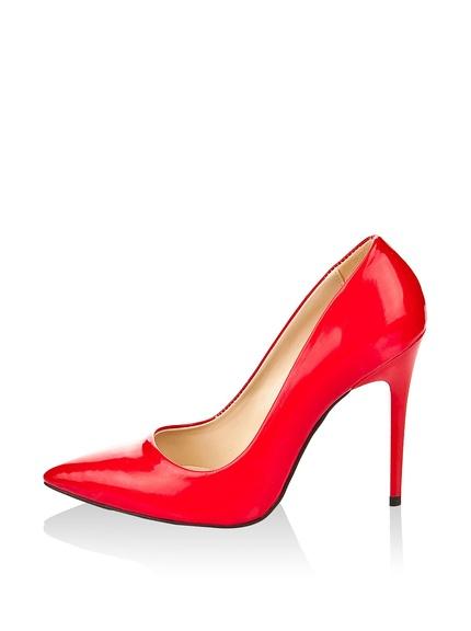 9a059002 Zapatos salones color rojo marca Pembe Potin baratos, outlet