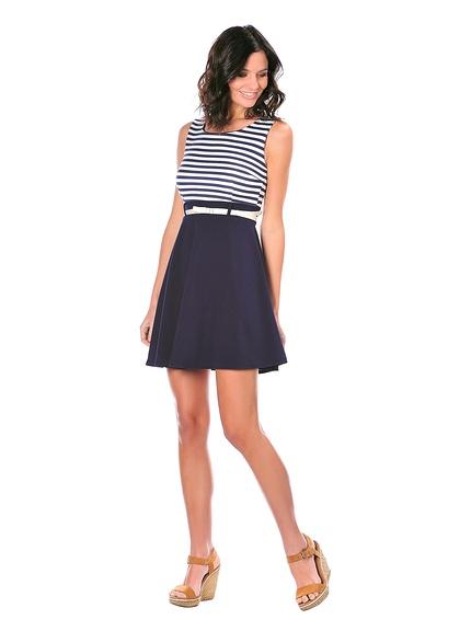 Vestido raya marinera marca Mademoiselle Lola rebajas 2