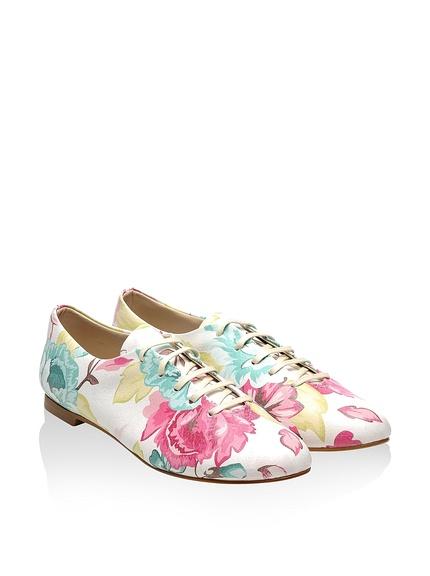 Zapatos cordón mujer estampados originales marca Bomonty baratos, outlet