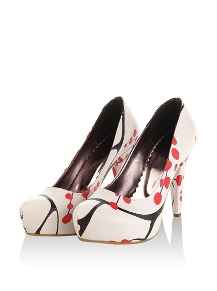 Zapatos tacón salones mujer estampados originales marca Bomonty baratos, outlet