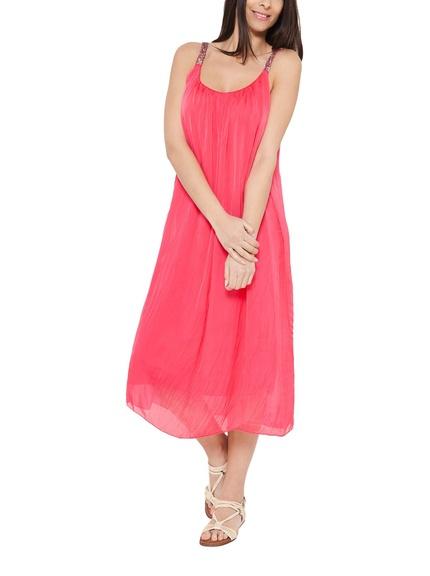 VestidBlusa color rosa claro marca Eyedoll barata, outleto largo color coral marca Eyedoll barato, outlet