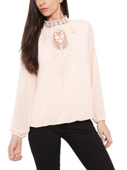 Blusa color rosa claro marca Eyedoll barata, outlet