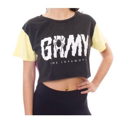 Camiseta crop top marca Grimey the scream