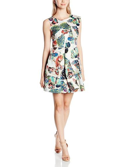 Vestido corto mariposas y flores marca Peperuna barato, outlet