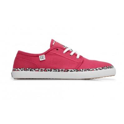 Zapatillas mujer marca DC rosas y leopardo