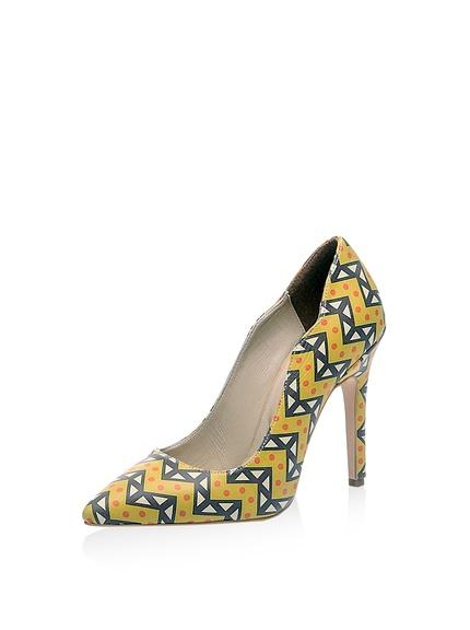 Zapatos salones tacón estampado geométrico marca Lua Lua baratos, outlet