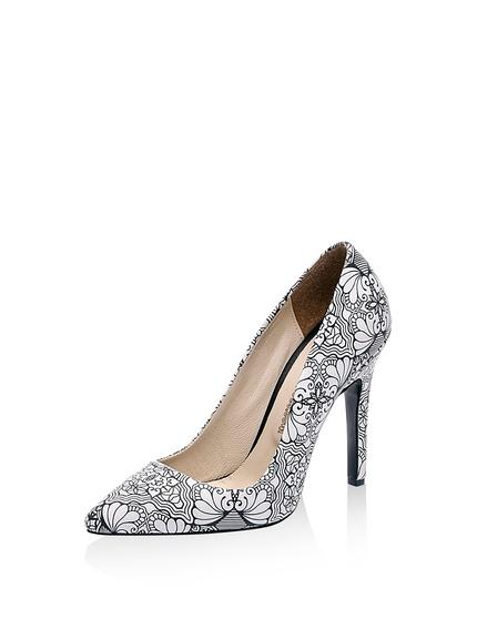 Zapatos salones tacón estampado flores marca Lua Lua baratos, outlet