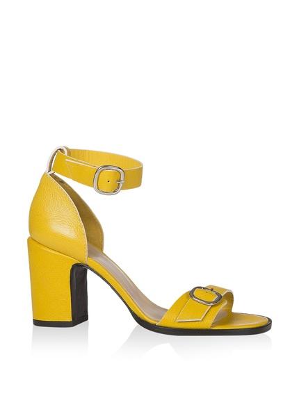 Zapatos tacón amarillos marca Castañer baratas, rebajas