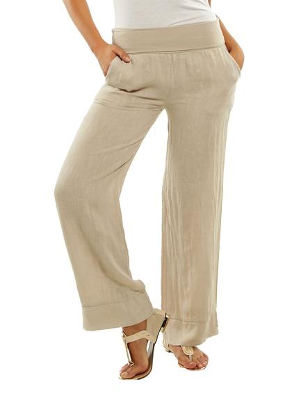 Pantalones lino marca Maison du lin baratos, rebajas