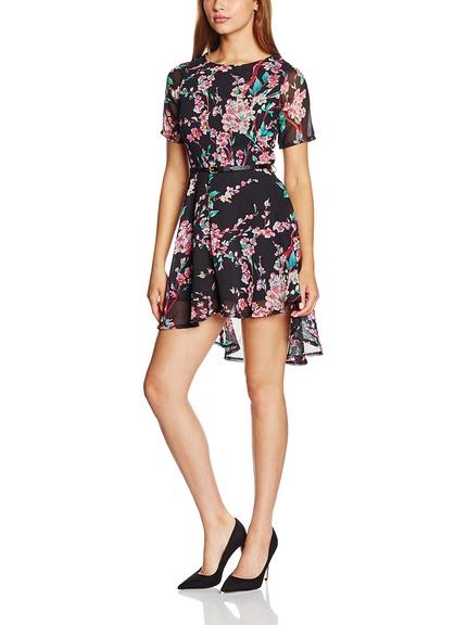 Vestido corto estampado flores marca Yumi barato, outlet