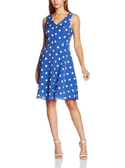 Vestido corto estampado lunares marca Yumi barato, outlet
