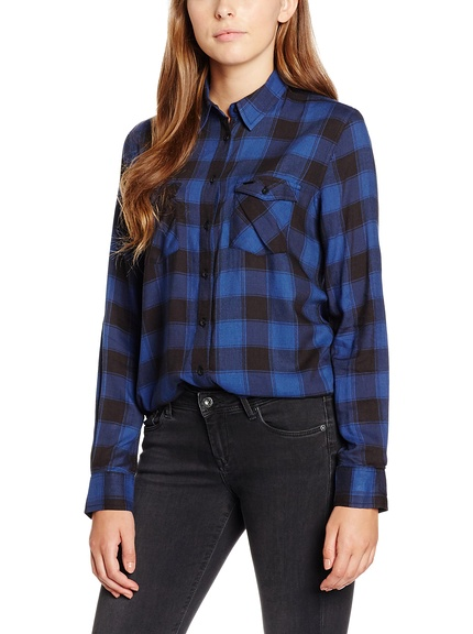 Camisa cuadros mujer marca Pepe Jeans barata, outlet onlineuadros mujer marca Pepe Jeans barata, outlet online