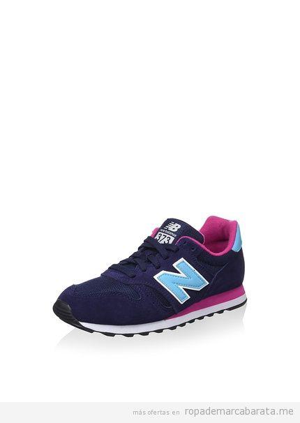 Zapatillas deporte mujer marca New Balance baratas, outlet