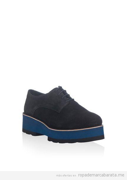 Zapatos cordones y plataforma marca Laura Moretti baratos, outlet