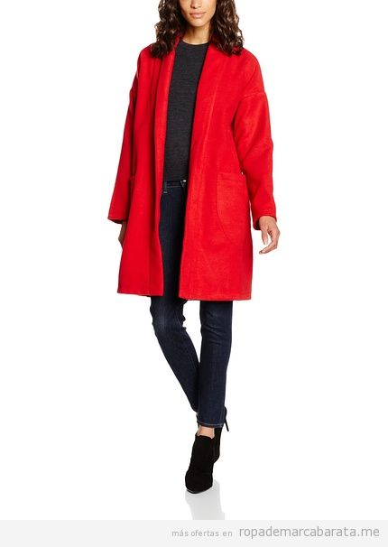 Abrigos de mujer color rojo marca Peperuna baratos, outlet
