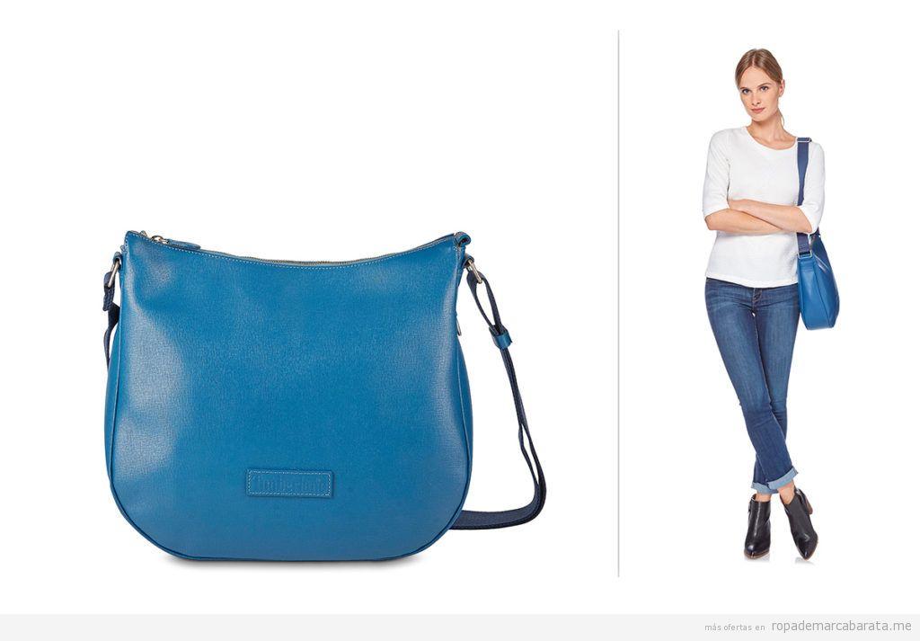 Bolsos piel azul marca Timberland barato, outlet
