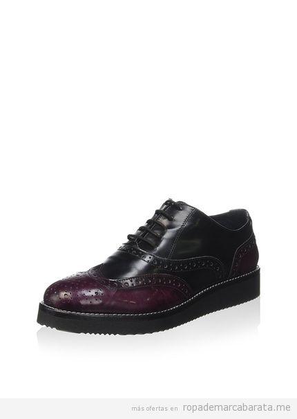 Zapatos oxford marca Luisa B Della Croce baratos, outlet