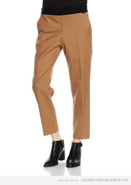 Pantalón cuadros marca French Connection baratos, outlet