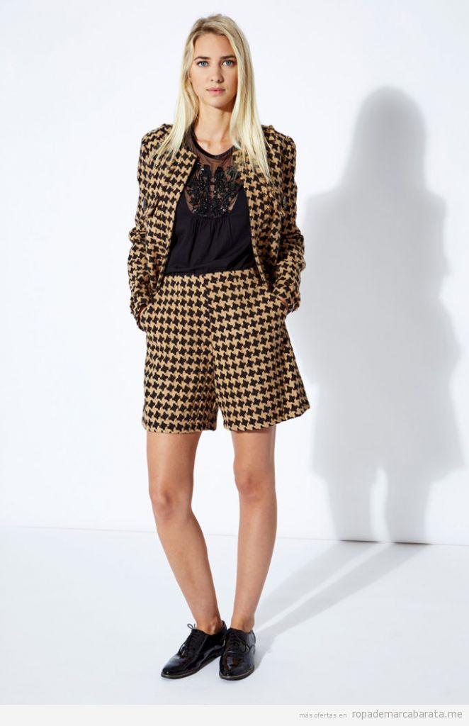 Conjunto chaqueta y shorts pata de gallo marca Twin-Set Simona Barbieri barato