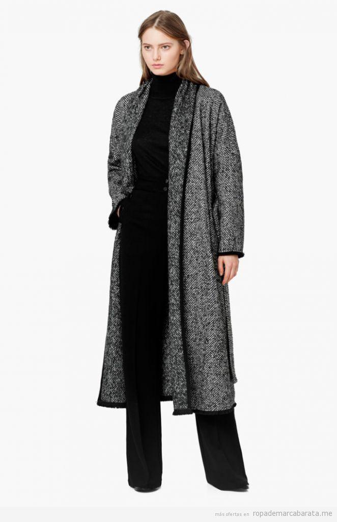 Abrigo largo mujer marca Mango baratos, outlet