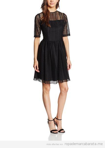 Vestido encaje negro marca Maiocci barato, otulet