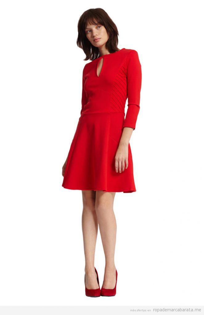 Vestido rojo invierno marca Morgan de toi barato, outlet