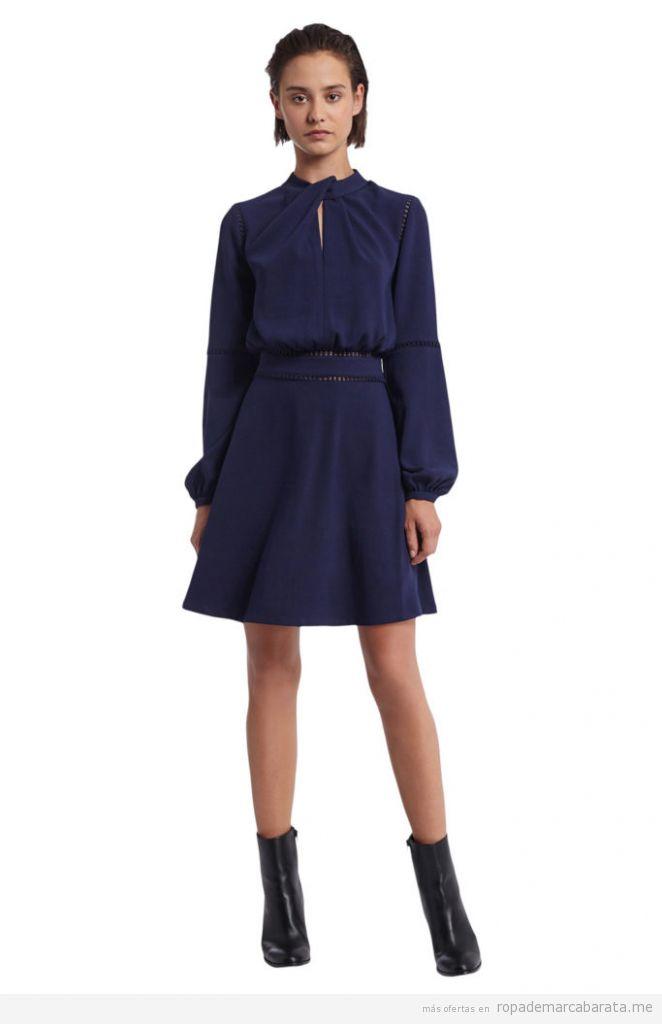 Vestido azul invierno marca Morgan de toi barato, outlet