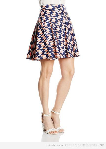 Falda estampada marca Nife barata, outlet