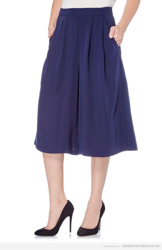 Pantalón culotte marca Yumi barato, outlet online