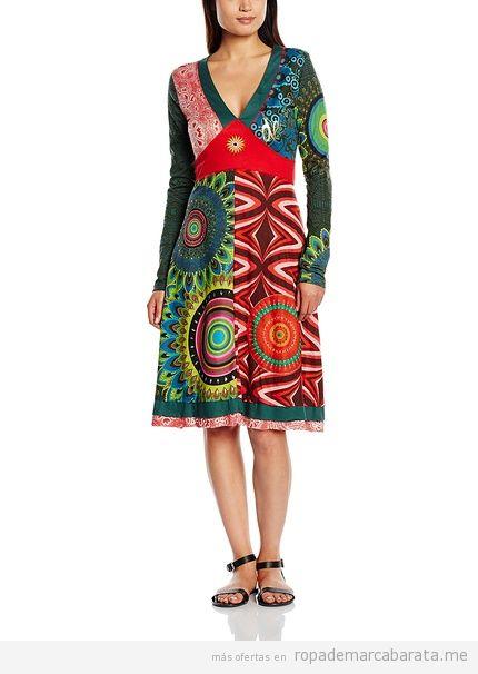 Vestidos manga larga marca Desigual baratos, outlet 3